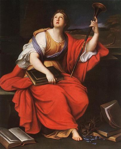 Clio: Muse der Geschichte (Pierre Mignard, 1689).