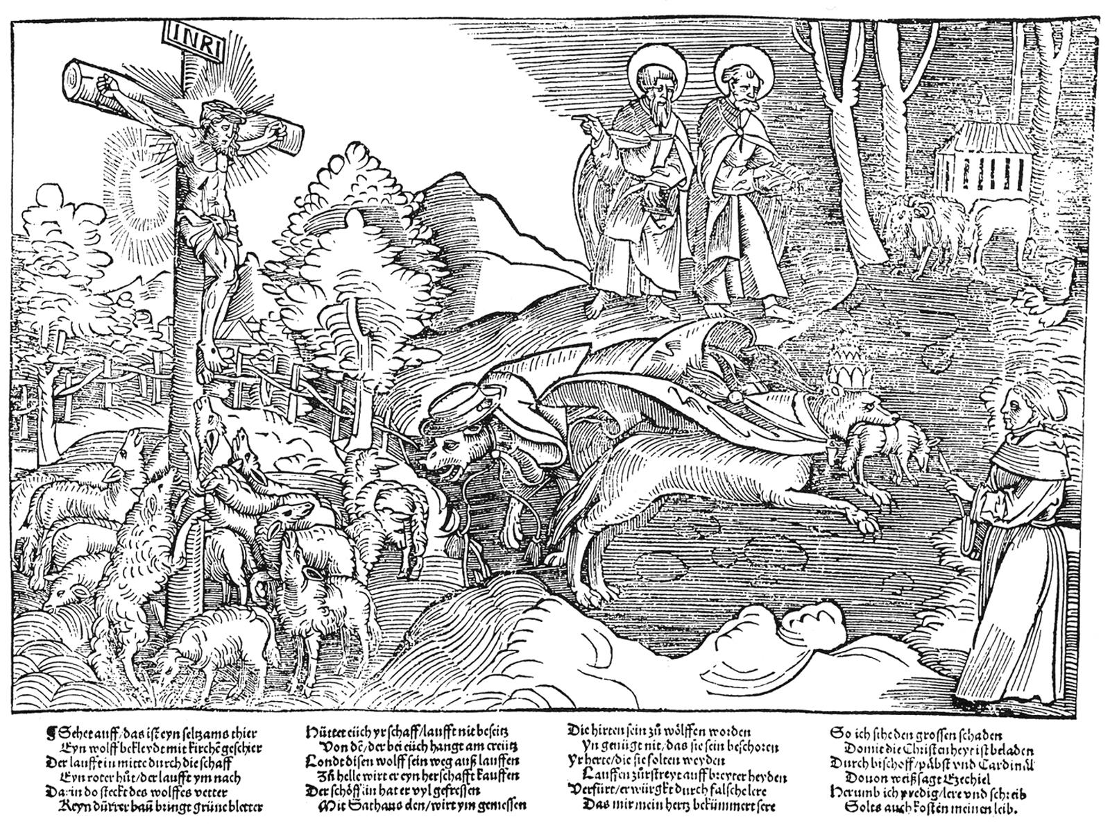 Die päpstlichen Wölfe (1520).